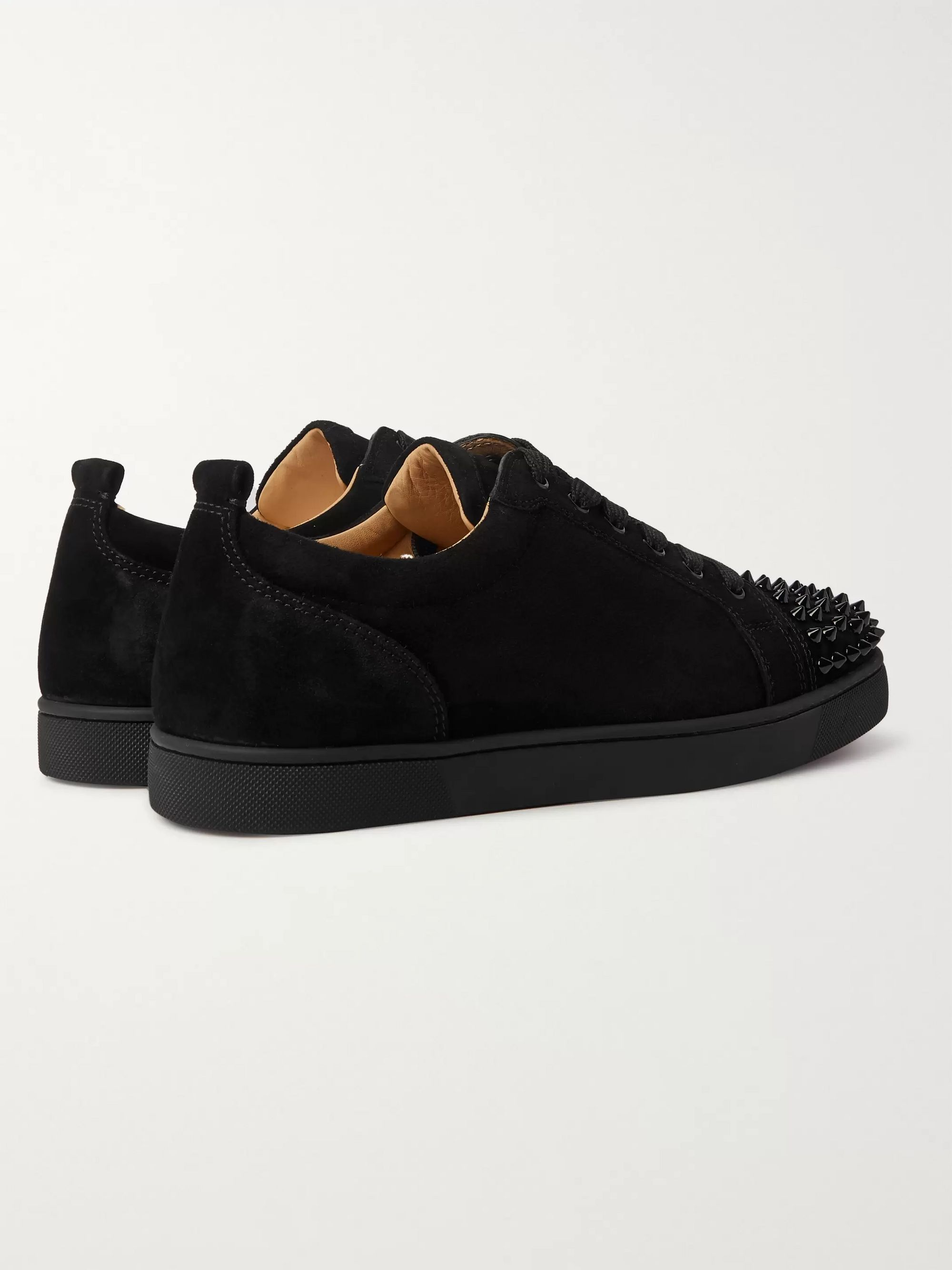 Christian Louboutin Louis Junior Studded Suede Sneakers