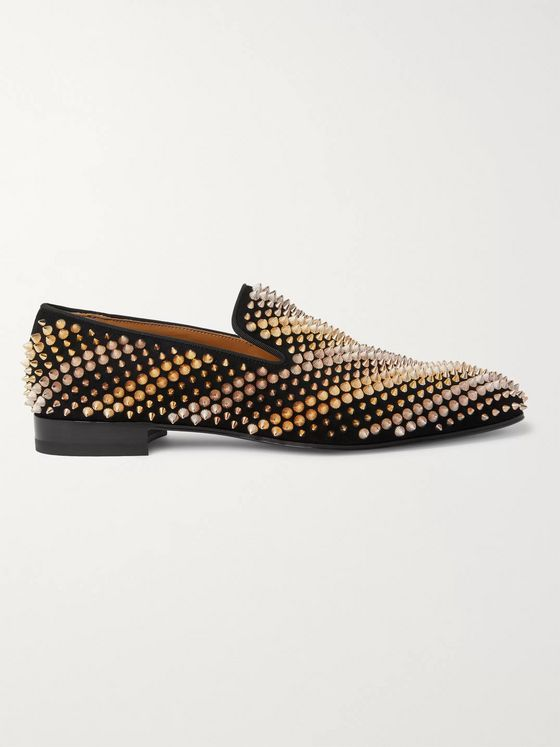 Christian Louboutin Studded Suede Loafers
