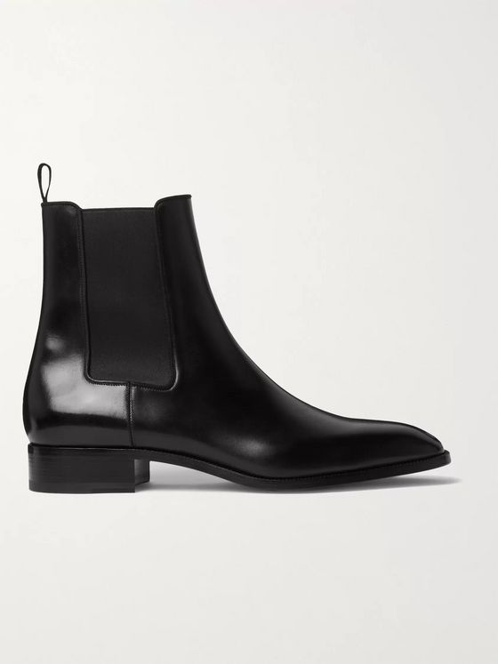 CHRISTIAN LOUBOUTIN Polished-Leather Chelsea Boots