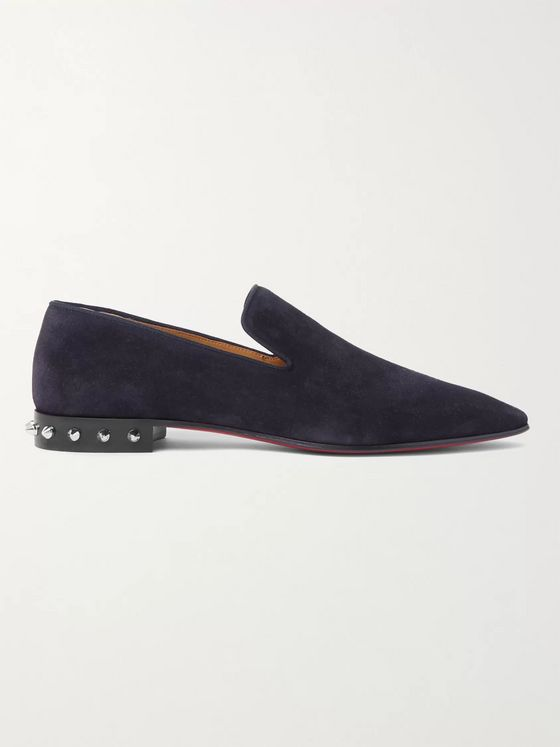 Christian Louboutin Spiked Suede Loafers
