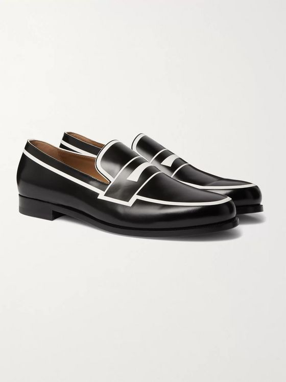 Christian Louboutin Magic Moc Leather Penny Loafers