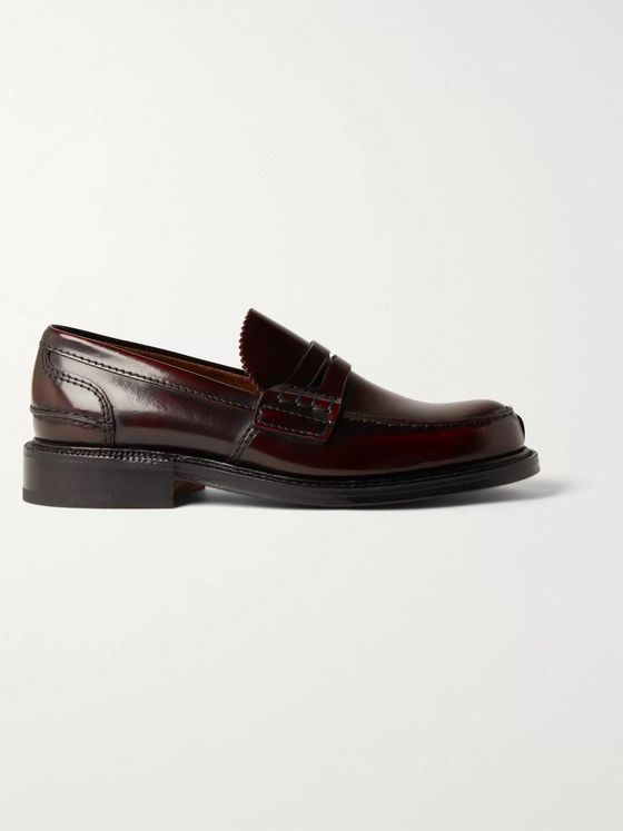 CHURCH'S Willenhall Bookbinder Fumè Leather Penny Loafers