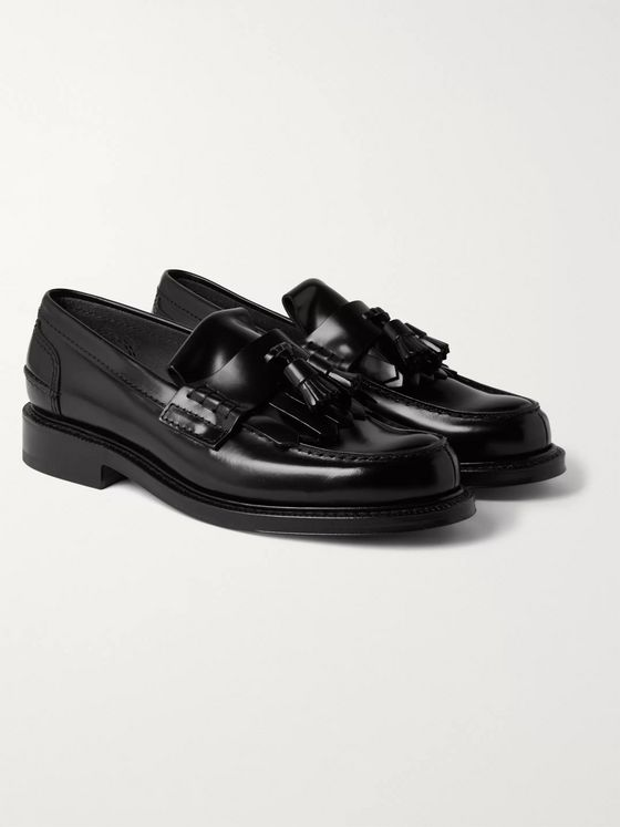 CHURCH'S Tennant Bookbinder Fumè Leather Tasselled Loafers