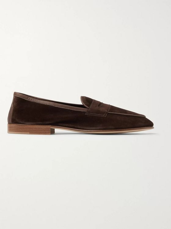Edward Green Polperro Suede Penny Loafers