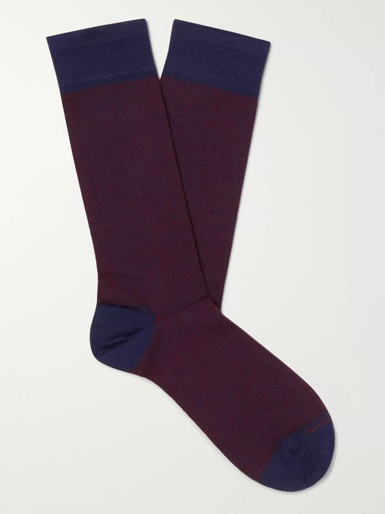 Marcoliani Birdseye Merino Wool-Blend Socks