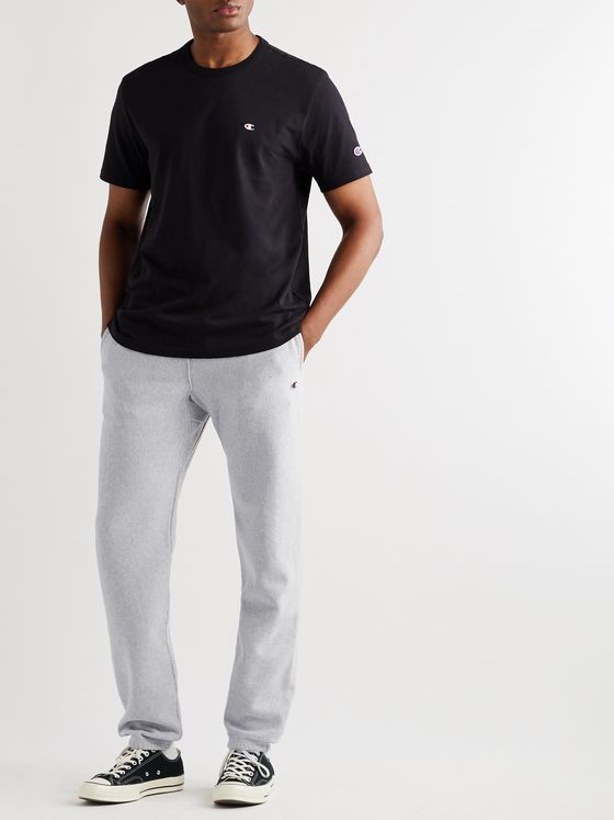 Champion Slim-Fit Melange Fleece-Back Cotton-Blend Jersey Sweatpants