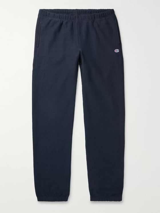 Champion Slim-Fit Fleece-Back Cotton-Blend Jersey Sweatpants