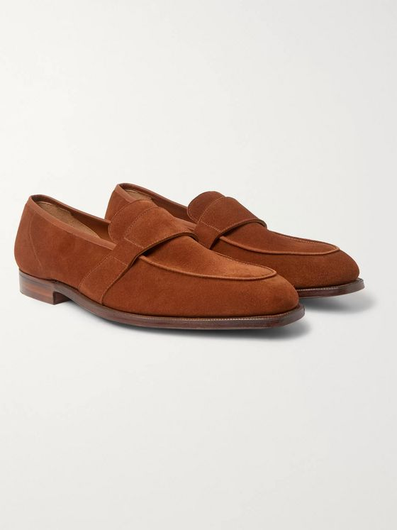 George Cleverley Owen Suede Penny Loafers