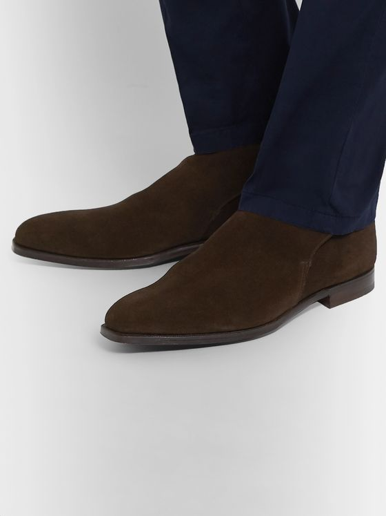 George Cleverley Morris Suede Chelsea Boots