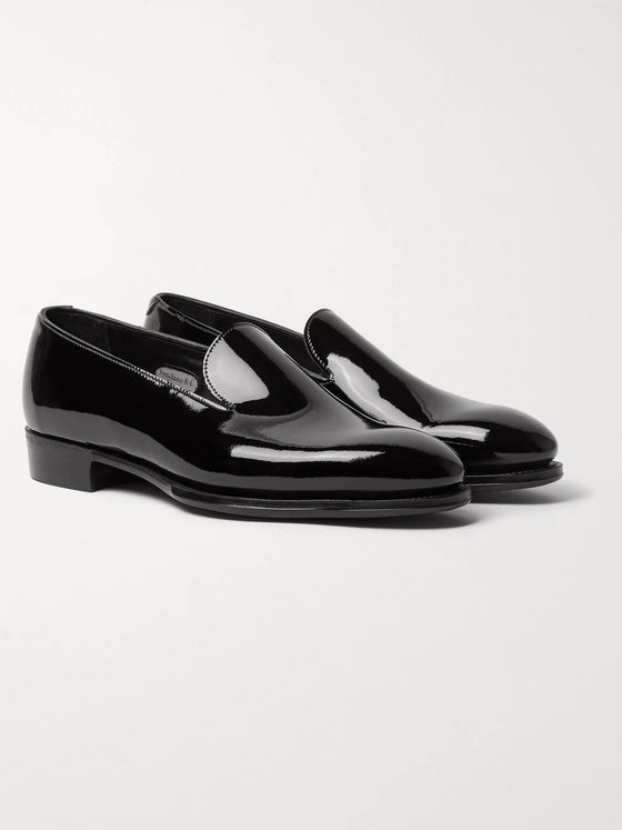 George Cleverley Positano Patent-Leather Loafers