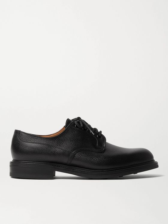 George Cleverley Archie II Textured-Leather Derby Shoes