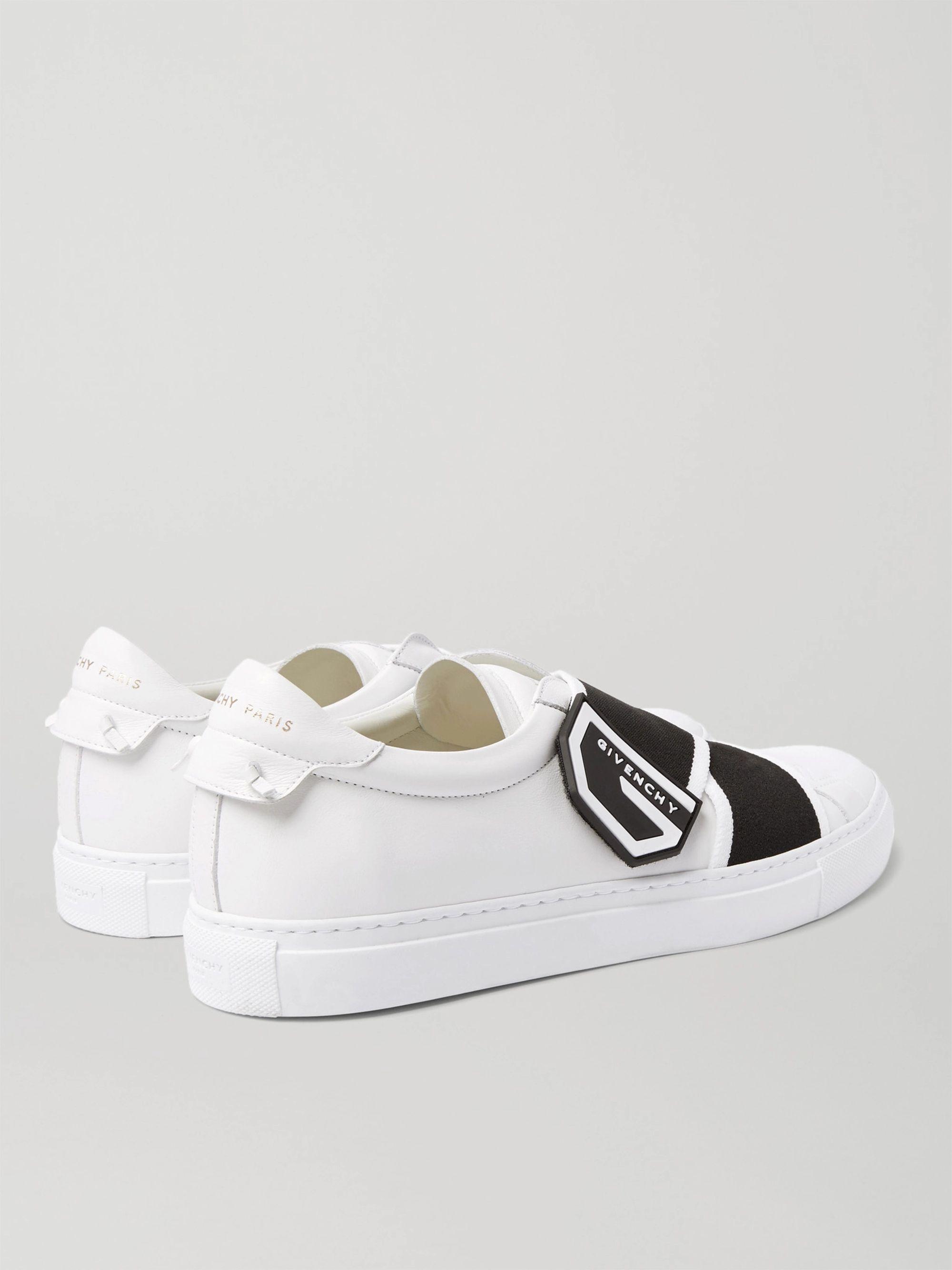 White Urban Street Logo-print Leather Sneakers | Givenchy