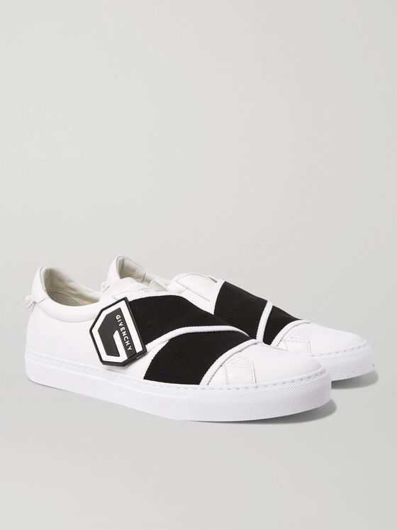GIVENCHY Urban Street Logo-Print Leather Sneakers