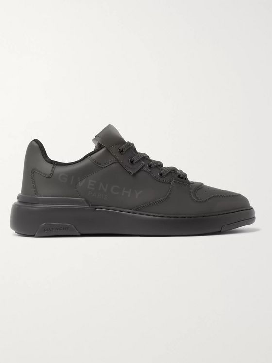 Givenchy Wing Leather-Trimmed Rubber Sneakers