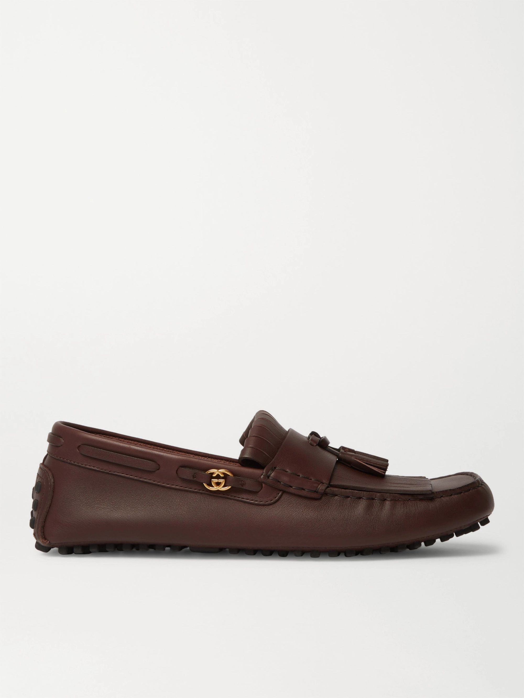 Gucci Ayrton Kilty Leather Tasselled Driving Shoes