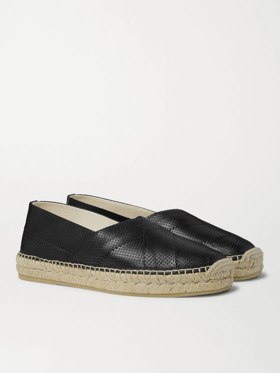 GUCCI Perforated Leather Espadrilles