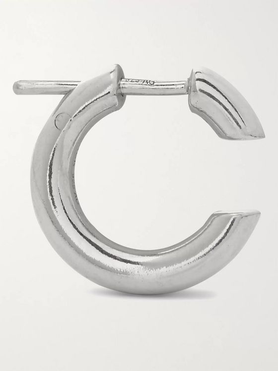 MARIA BLACK Disrupted Rhodium-Plated Sterling Silver Hoop Earring