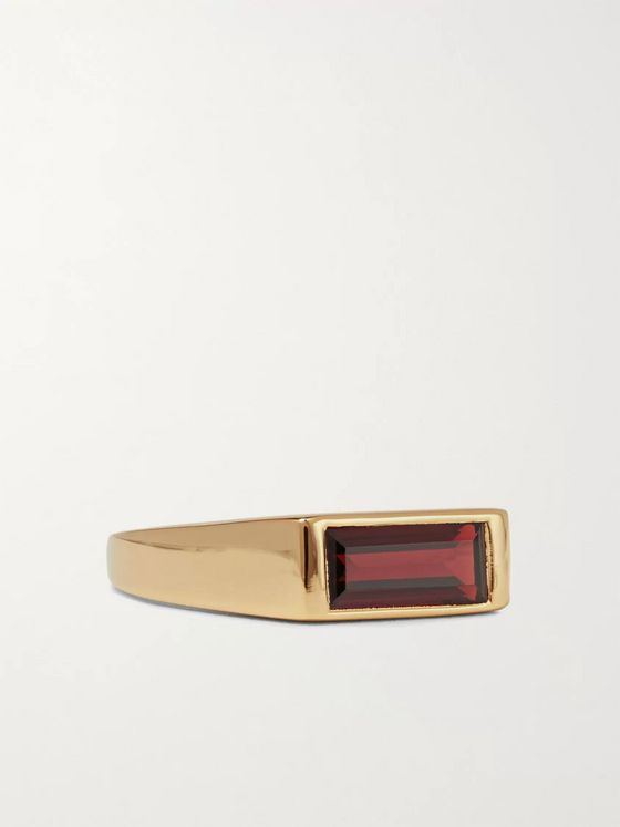 Maria Black Harald Gold-Plated Garnet Ring