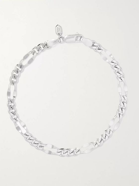 MARIA BLACK Dean Rhodium-Plated Chain Bracelet