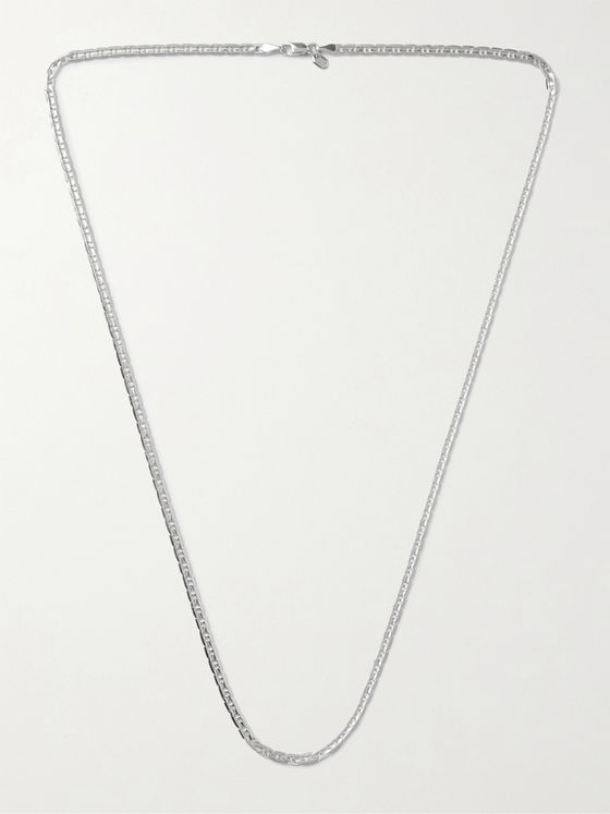 Maria Black Carlo Rhodium-Plated Sterling Silver Chain Necklace