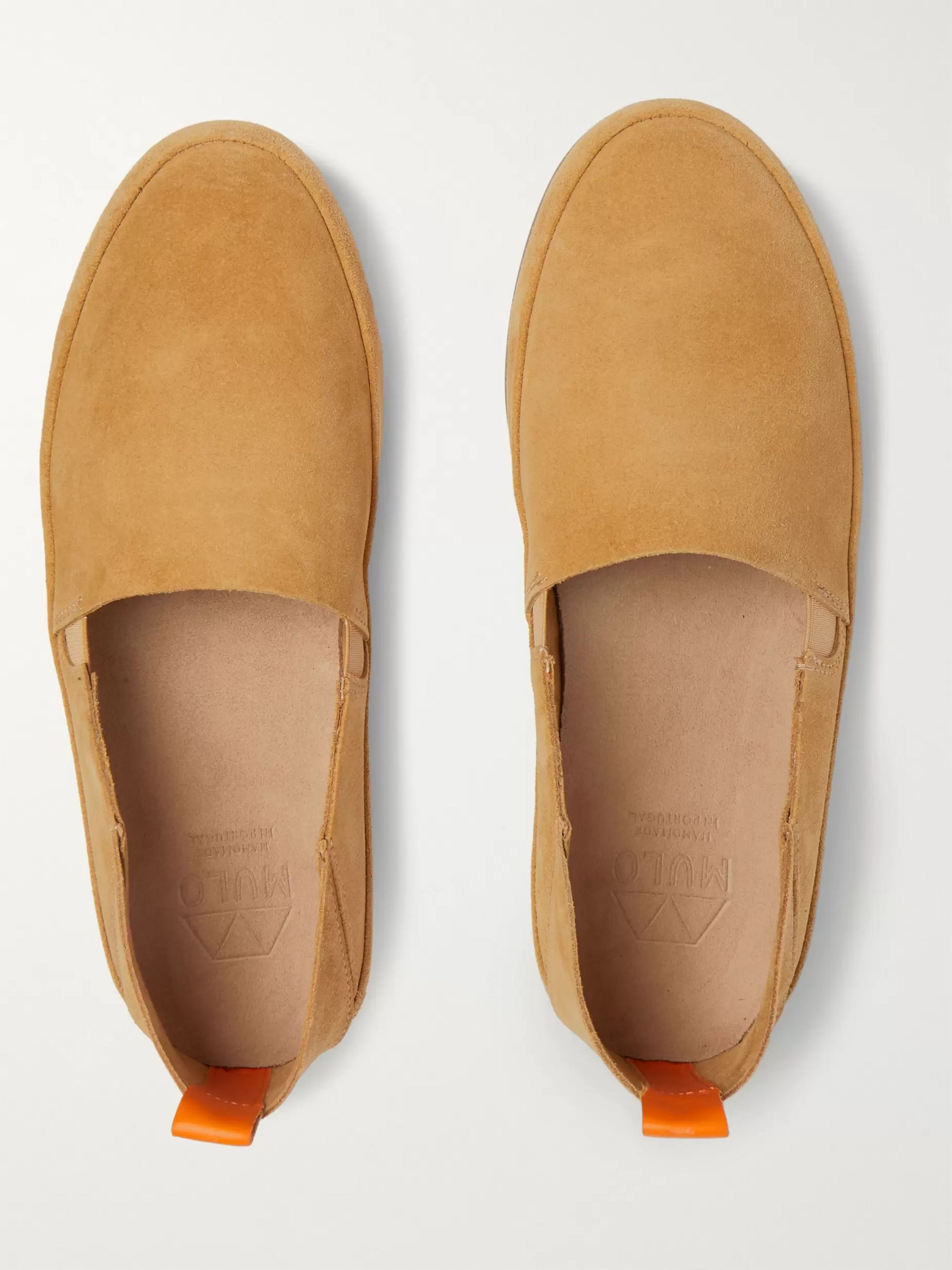 Mulo Collapsible-Heel Suede Loafers