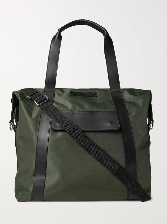 Oliver Spencer Leather-Trimmed Nylon Holdall
