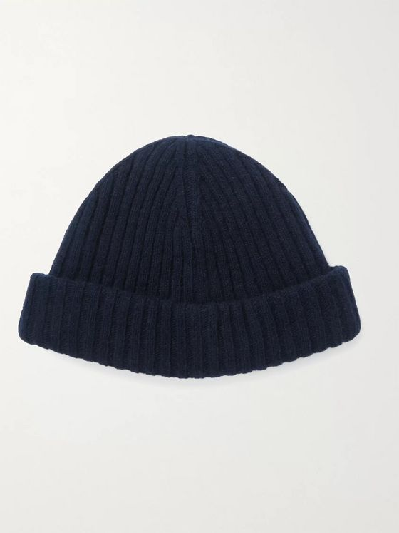 Oliver Spencer Ribbed Wool-Blend Beanie