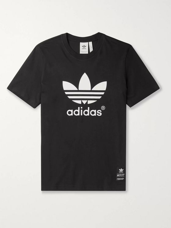 adidas Originals Appliquéd Logo-Print Cotton-Jersey T-Shirt