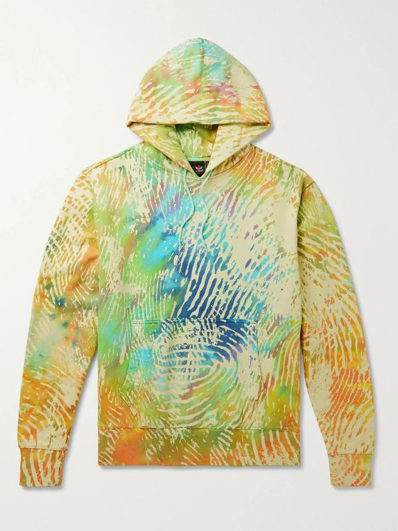 adidas Consortium + Pharrell Williams Tie-Dyed Loopback Cotton-Jersey Hoodie