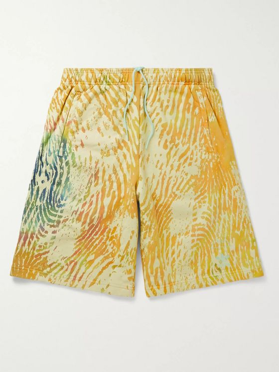 adidas Consortium + Pharrell Williams Tie-Dyed Loopback Cotton-Jersey Drawstring Shorts