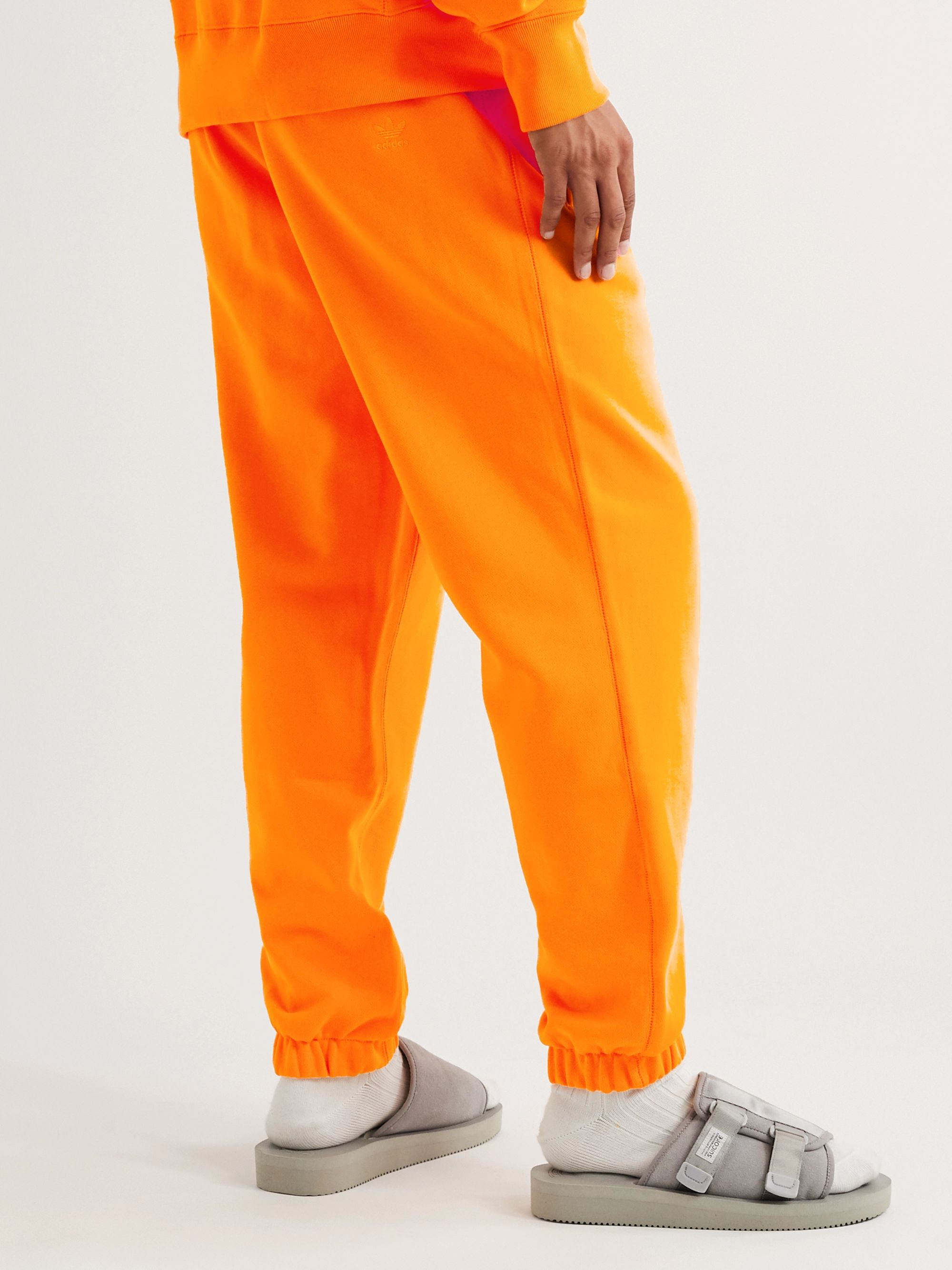 adidas Consortium + Pharrell Williams Embroidered French Cotton-Terry Sweatpants