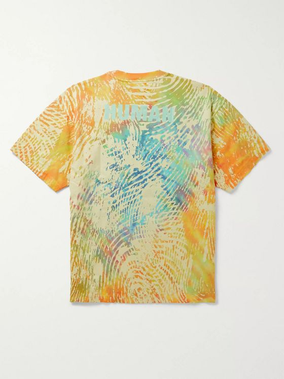 adidas Consortium + Pharrell Williams Printed Tie-Dyed Cotton-Jersey T-Shirt