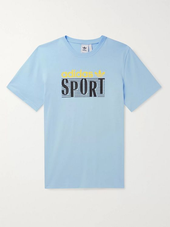 adidas Originals Linear Logo-Print Cotton-Jersey T-Shirt