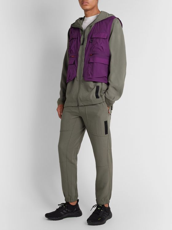 adidas Originals Terrex Convertible Stretch-Shell and Ripstop Jacket