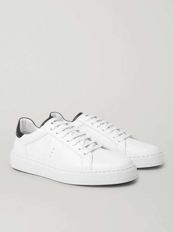 J.M. Weston Basket on Time Leather Sneakers