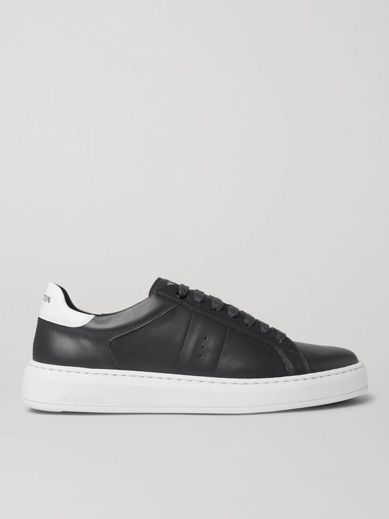 J.M. Weston Leather Sneakers