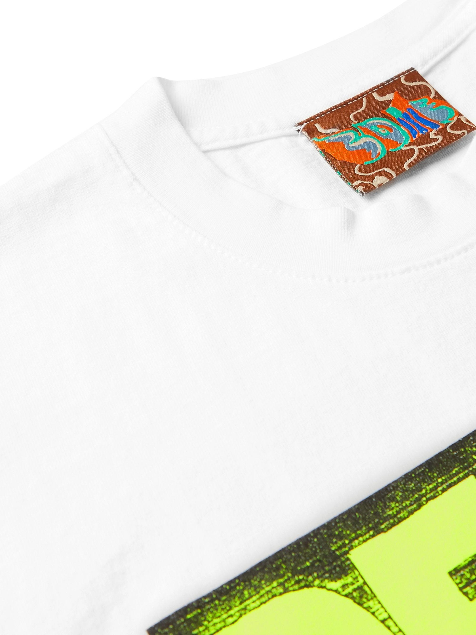White Logo-print Cotton-jersey T-shirt | Come Tees