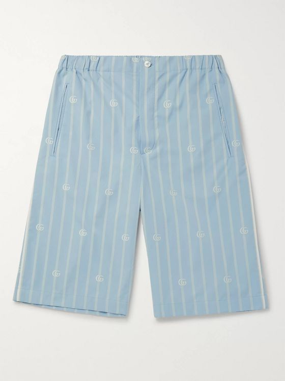 GUCCI Striped Cotton-Jacquard Bermuda Shorts