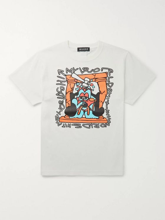 Beams + Shinknownsuke Printed Cotton-Jersey T-Shirt