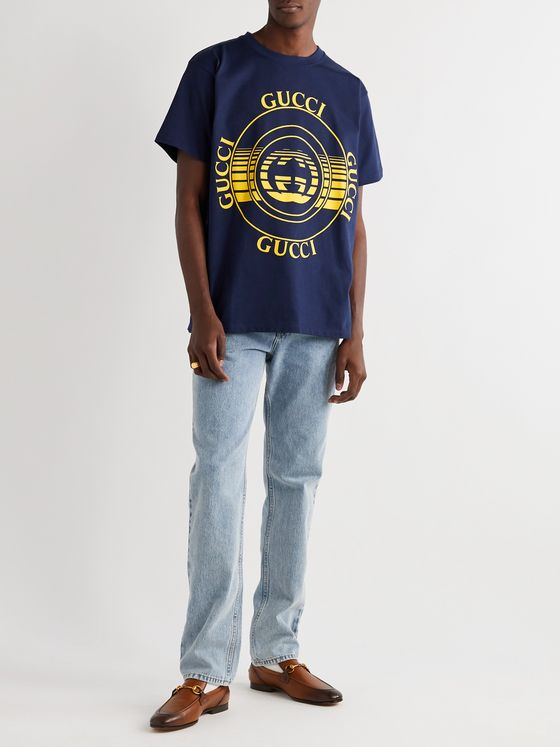GUCCI Printed Cotton-Jersey T-Shirt