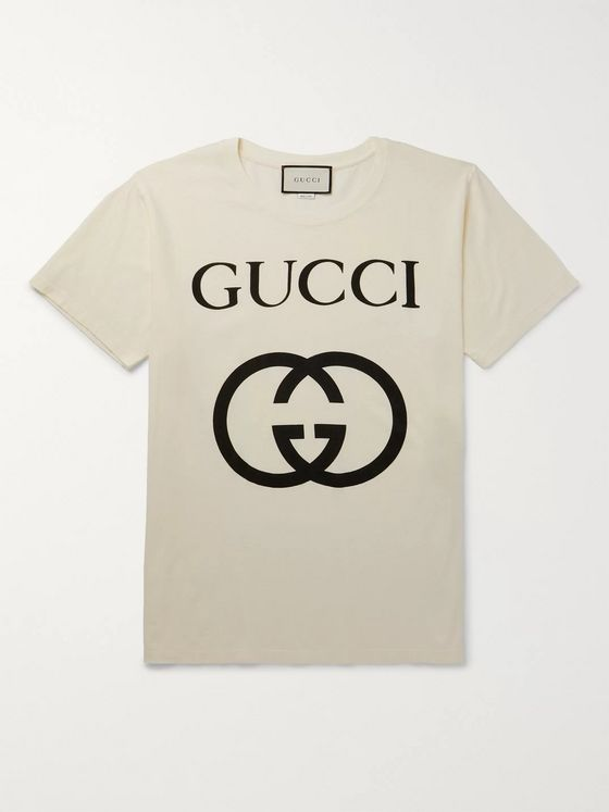 GUCCI Logo-Print Cotton-Jersey T-Shirt