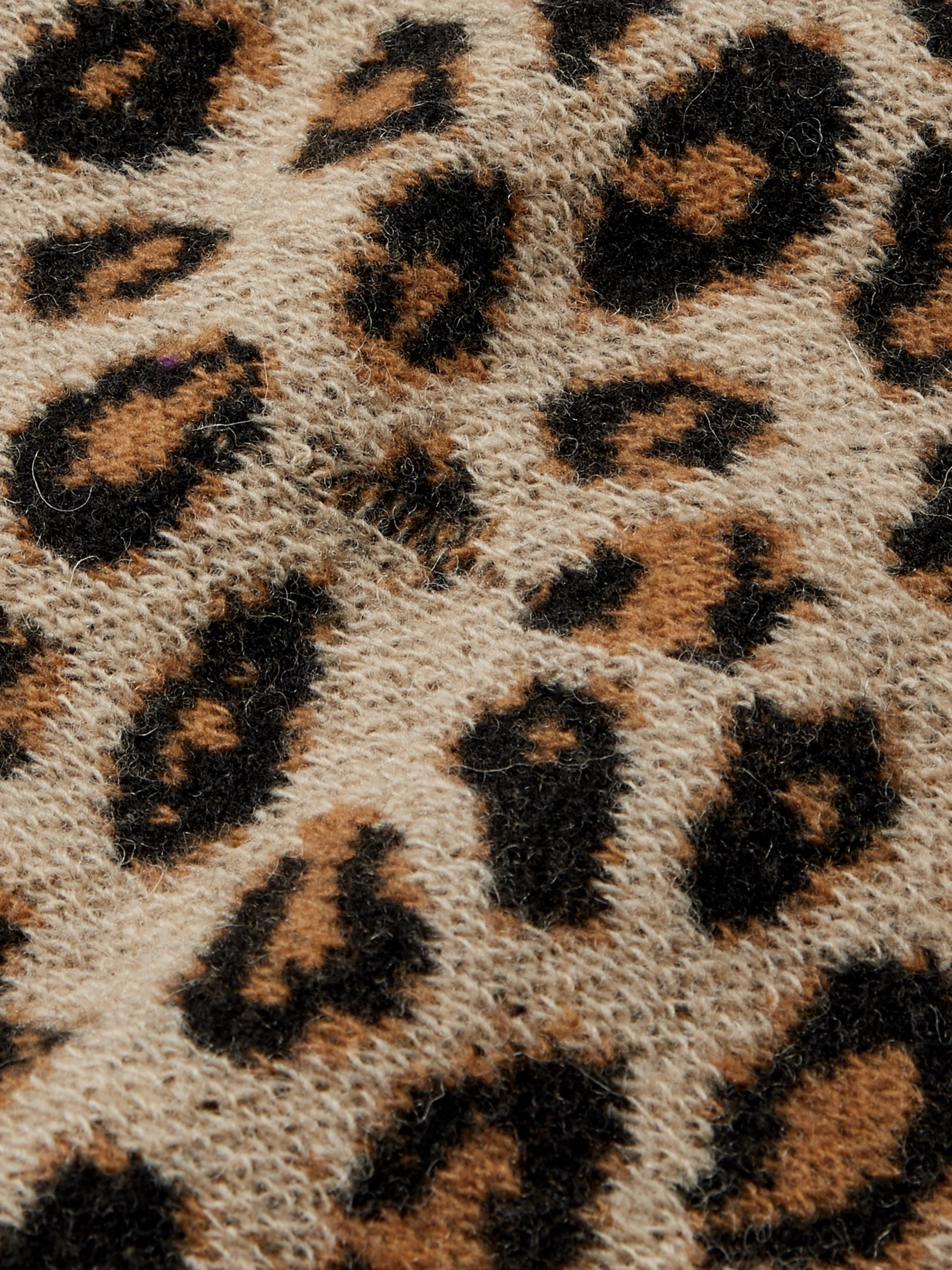 Gucci Distressed Leopard Jacquard Sweater