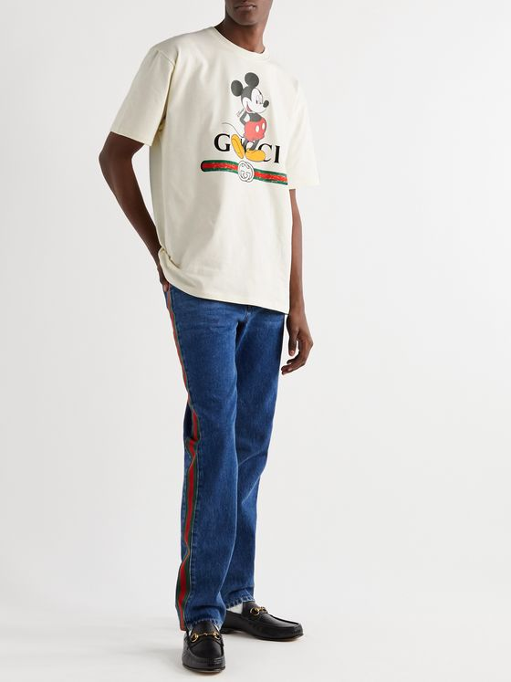 Gucci + Disney Logo-Print Cotton-Jersey T-Shirt