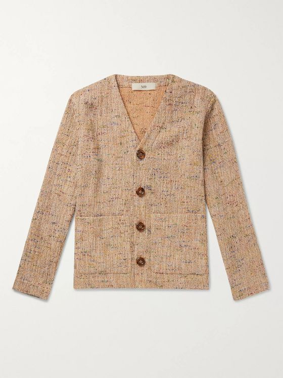 Séfr Gote Open-Knit Cotton-Blend Cardigan