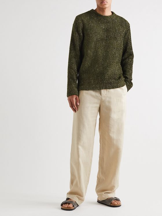 Séfr Leth Metallic Chenille Sweater