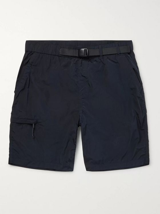 Norse Projects Luther Belted Garment-Dyed Nylon Shorts