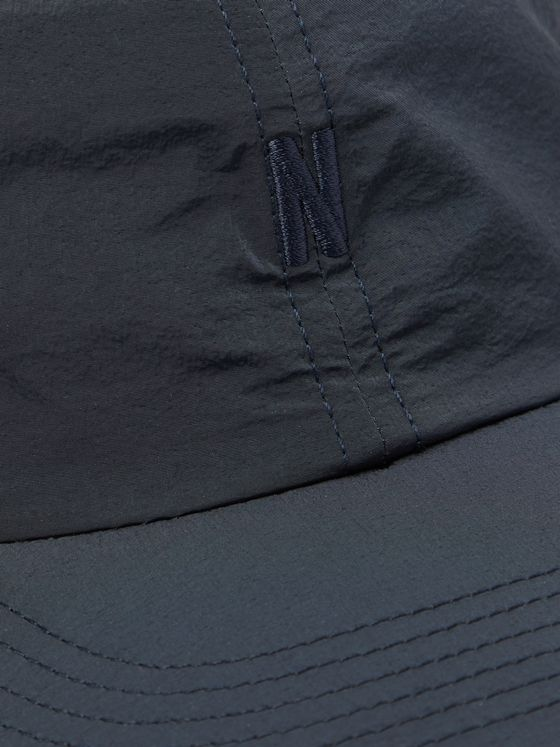 Norse Projects Logo-Embroidered Garment-Dyed Nylon Baseball Cap