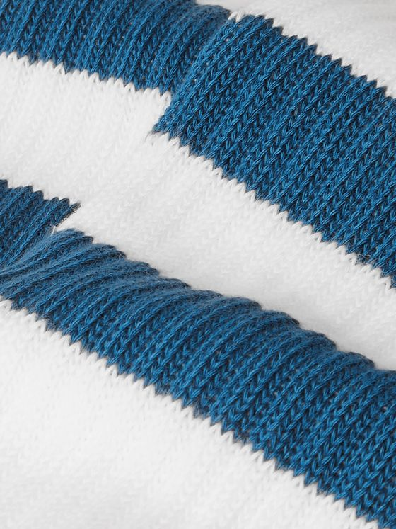 Norse Projects Bjarki Striped Ribbed Cotton Socks