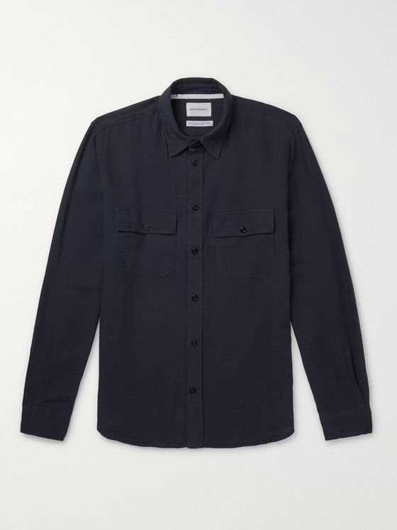 Norse Projects Villads Cotton and Linen-Blend Twill Shirt
