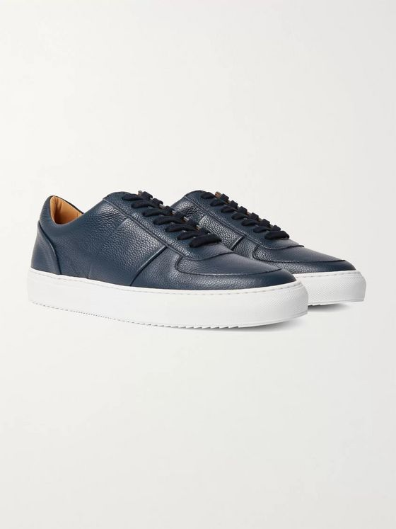 MR P. Larry Panelled Full-Grain Leather Sneakers